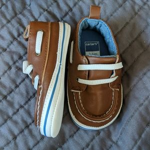 Brown boat style shoes